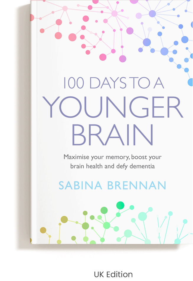 Book Cover 100 Days to A Younger Brain UK edition