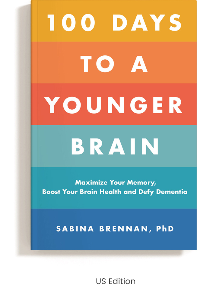 Book Cover 100 Days to a Younger Brain US edition